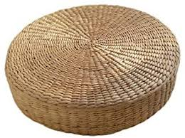 40cm Tatami Cushion Round <b>Straw Weave Handmade</b> Pillow Floor ...