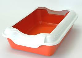 """Туалет для кошек """"Homecat"""" с бортиком (цвет: красный ..."""
