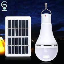 UK <b>Solar Panel</b> Powered <b>LED Light Bulb</b> Portable Outdoor Camping ...