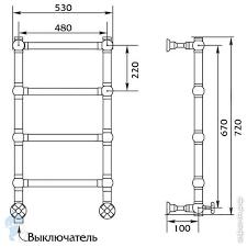 <b>Полотенцесушитель</b> электр. <b>Migliore COLOSSEUM</b> SX 670 ...