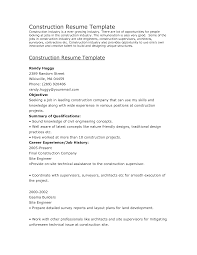 resume  construction company resume sample  chaoszconstruction manager