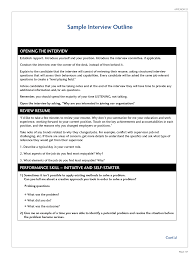 resume party helper best photos of interview outline template interview questions sample interview outline resume and cover letters