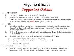 ch  reading and writing argument essays an argument is a line  argument essay suggested outline iintroduction ahook your readergrab your