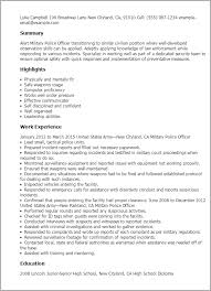 docs template cover letters chief executive military police officer military cover letters