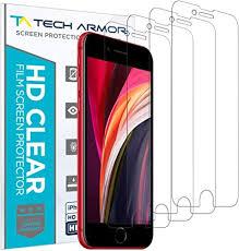 Tech Armor <b>HD</b> Clear <b>Film Screen Protector</b> (Not Glass) for Apple ...