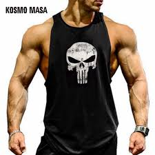 KOSMO MASA 2018 <b>Skull Bodybuilding Fitness Stringer</b> Men Tank ...