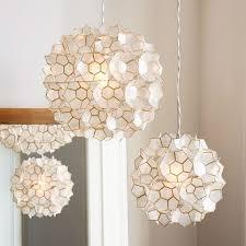 capiz flower pendant west elm capiz lighting fixtures