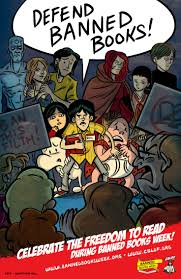 17 best images about banned books week classroom jonathan hill multi character poster featuring banned and challenged comic book characters available