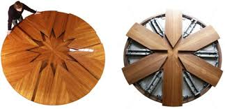 dining table leaf hardware: throughout  expanding spinning table mechanism throughout