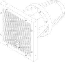 """HS208 - Full range <b>horn speaker</b> 8""""   AUDAC"""