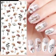 <b>1 Sheet Embossed 3D</b> Nail Stickers Blooming Flower Nail Art ...