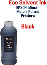 <b>Eco solvent</b> Ink <b>Black</b> 1000ml bottle EPSON, <b>Roland</b>, Mimaki, Mutoh ...