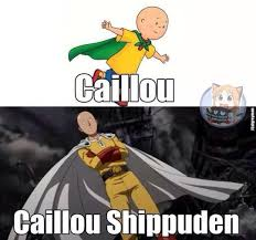 Caillou Shippuden | One-Punch Man | Know Your Meme via Relatably.com