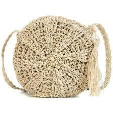 <b>Round Straw Bag</b> With Tassels | SCALE