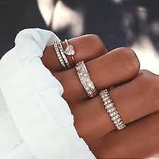<b>5 pcs</b>/ <b>set bohemian</b> rhinestone crystal rings at Banggood