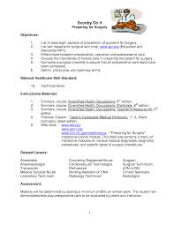 surgical tech resume getessay biz resume success in surgical tech surgical technology for the surgical technologist answer key by inside surgical tech