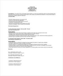 Biomedical Sales and Service Engineer Resume Sample Templates