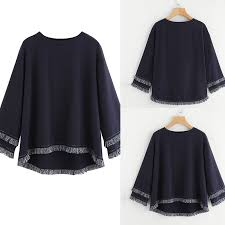 #11.11 <b>Women's</b> Long Sleeve Tiered <b>Fringe Tassel Sweatshirt</b> ...