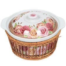 <b>Кастрюля керамическая</b> Mayer & Boch Желтые и розовые розы ...