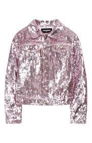 <b>Джинсовая</b> куртка с пайетками <b>DSQUARED2</b> розового цвета ...