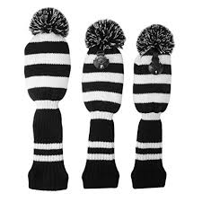 XCSOURCE 3pcs <b>Golf</b> Club Driver Knitted <b>Headcover</b> Pom Pom ...