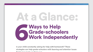 help your child work independently homework skills learning help your child work independently homework skills learning and attention issues