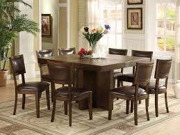 Square Kitchen Table With Bench Dining Room Ideas Top 20 Pictures Square Dining Room Table For 8
