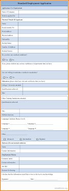 standard employment application printable timesheets 7 standard employment application
