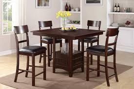 elegant square black mahogany dining table: full size of kitchen elegant square chocolate mahogany wood bar height kitchen table glass flower