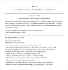 event planner resume template –   free word  excel  pdf format    if you are a very seasoned wedding planner   huge experience in the industry  this event planner template would be good for you as it allots a
