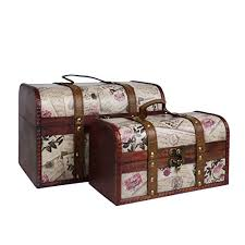 Fine Gifts <b>2 Wooden Treasure Chest</b> Storage Trunks in our ...
