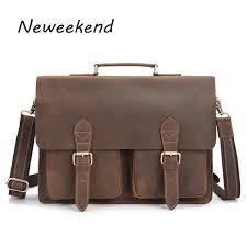<b>NEWEEKEND Genuine Leather</b> 16 Inch <b>Handbag</b> Male Man Men'S ...