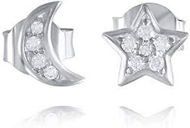 Amazon.com: La Raffine Small S925 Sterling Silver <b>Star and Moon</b> ...