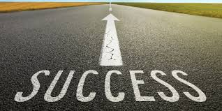the year of great success and goal setting medical empty asphalt road towards cloud and signs symbolizing success a