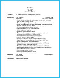 excellent ways to make great bartender resume template how to bartender resume template microsoft word and bartender resume sample