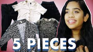 I Wore Only <b>5 Pieces</b> of <b>Clothing</b> for 5 Days - YouTube