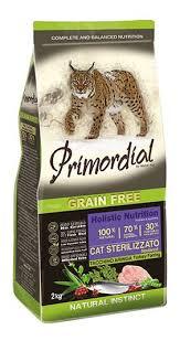 <b>Сухие корма</b> для кошек <b>Primordial</b>