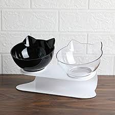 <b>Non</b>-<b>slip Cat Bowls Double</b> Pet Bowls With Raised Stand Pet Food ...