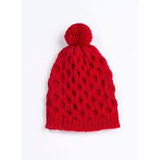 <b>Red honeycomb</b> stitch beanie - Bergère de France