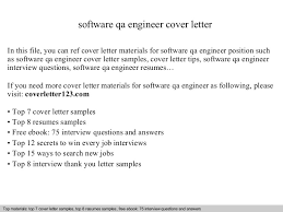 Quality Assurance Engineer Cover Letter Sample   LiveCareer