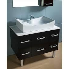 element contemporary bathroom vanity set: design element paris contemporary bathroom vanity with vessel sink