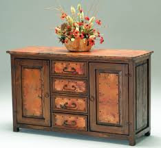 copper console table 2 wooden sideboard furniture