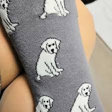 <b>Mens Womens Casual</b> Blue Labrador Socks Crazy Custom Socks ...