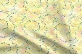 <b>Japanese</b> Garden <b>Light Yellow</b> - Spoonflower