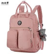 <b>2019 Fashion Woman Backpack</b> Waterproof Nylon Soft Handle ...