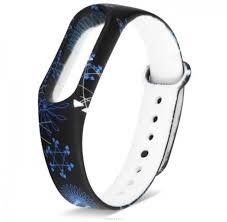 Силиконовый <b>Ремешок</b> xiaomi mi band 2 синие узоры — купить в ...