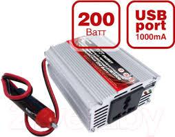 <b>AVS IN-200W</b>/ <b>A80683s</b> Автомобильный <b>инвертор</b> напряжения ...