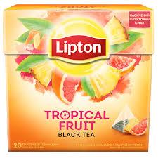 <b>Lipton черный чай</b> в пирамид <b>Tropical</b> Fruit 100пак - купить оптом ...