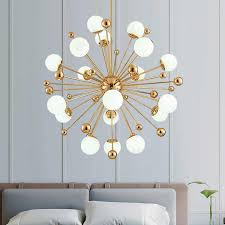 <b>Nordic LED Chandeliers</b> Dandelion American Magic Bean Lights Art ...