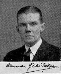 Alexander James Smith McFadzean graduated MBChB from the University of Glasgow in 1936, was awarded an honorary MD in 1959 and DSc in 1970. - UGSP01677_m